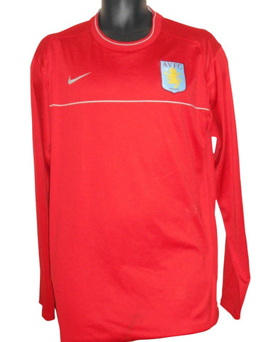 Aston Villa 2007-08 players training shirt xl mens #S622.
