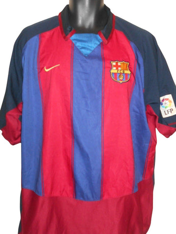 Barcelona 2003-04 home shirt XL Mens #S808.