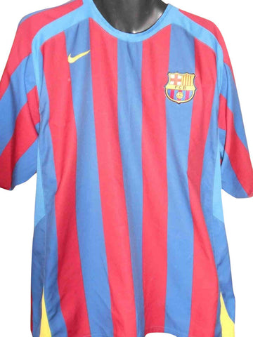 Barcelona 2005-06 home shirt XL Mens RONALDINHO 10 #S447.