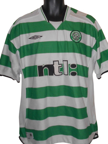 Celtic 2001-03 home shirt XL Mens #S805.