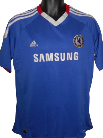 Chelsea 2010-11 home shirt Large mens #S816.