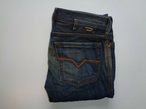 Diesel Zathan dark blue indigo jeans mens regular slim bootcut 00784