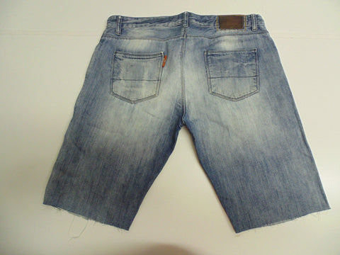 "Mens Superdry jeans shorts 34"" - bleached blue festival #343 LONDON-Classic Clothing Crib"