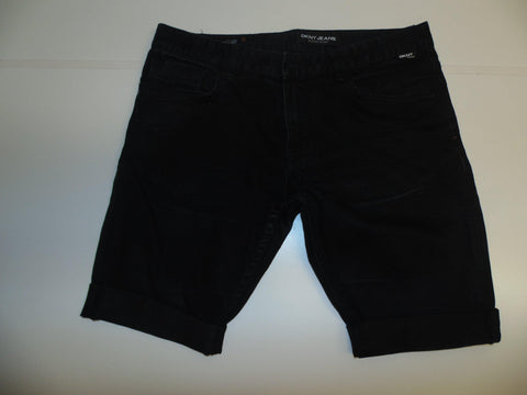 "Mens DKNY jeans shorts 33"" - black denim festival #337 HUDSON SKINNY-Classic Clothing Crib"