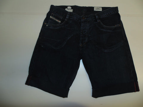 "Mens Diesel jeans shorts 34"" - dark blue denim festival #3342 RECKFLY"