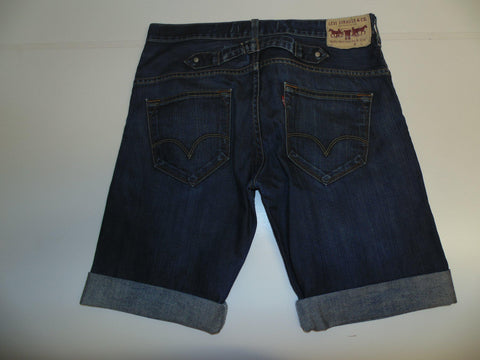 "Mens Levi's Strauss 503 jeans shorts 32"" - indigo denim clinchback festival #313-Classic Clothing Crib"