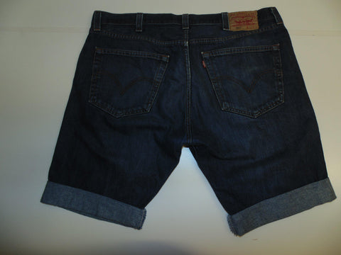 "Mens Levi's Strauss 501 jeans shorts 38"" - dark blue denim festival #3061"