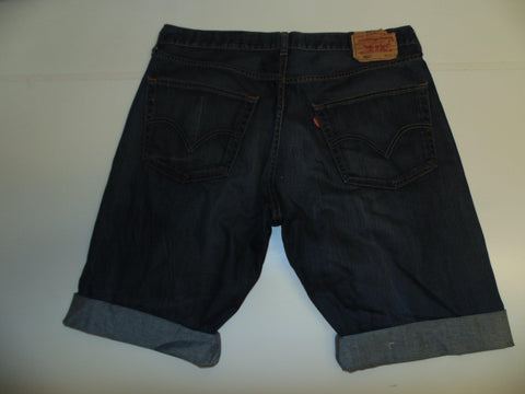 "Mens Levi's Strauss 501 jeans shorts 38"" - indigo dark blue denim festival #3041"