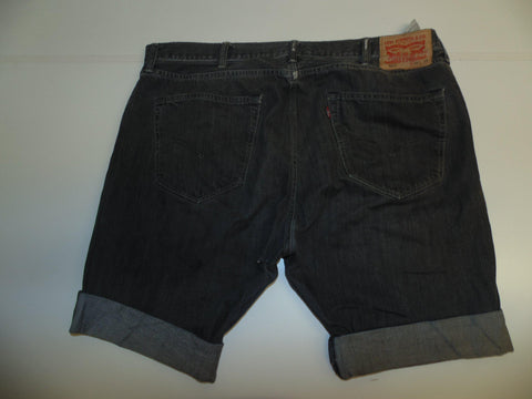 "Mens Levi's Strauss 501 jeans shorts 40"" - black denim festival #3021"