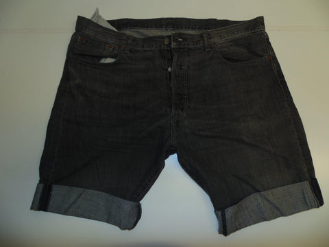 "Mens Levi's Strauss 501 jeans shorts 40"" - black denim festival #3022"