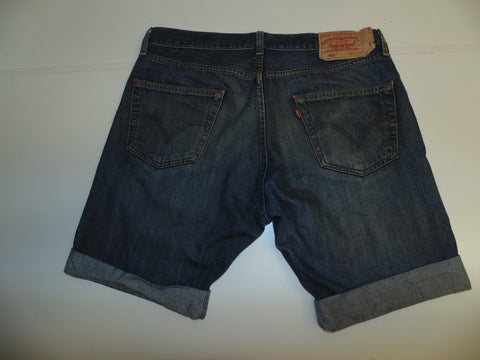 "Mens Levi's Strauss 501 jeans shorts 34"" - indigo denim festival #299-Classic Clothing Crib"