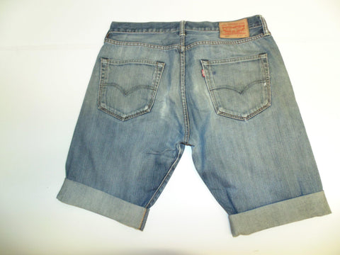 "Mens Levi's Strauss 501 jeans shorts 34"" - blue denim festival #2971"