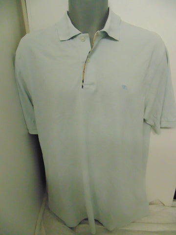Burberry London light blue polo shirt medium mens - #VS074-Classic Clothing Crib