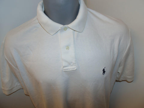 Ralph Lauren white polo shirt small mens - #VS060-Classic Clothing Crib
