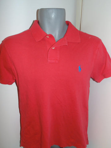 Ralph Lauren red polo shirt small mens Slim Fit - #VS059-Classic Clothing Crib