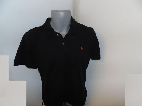 Ralph Lauren black polo shirt medium mens, custom fit - #VS058-Classic Clothing Crib