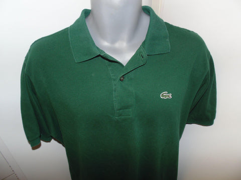 Lacoste green polo shirt large mens, size 5 -  #VS034