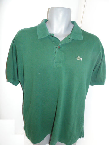 Lacoste green polo shirt large mens, size 5 - #VS034-Classic Clothing Crib