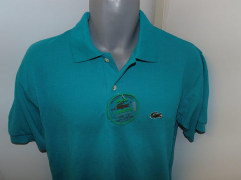 Vintage Lacoste teal polo shirt large mens, BNWT -  #VS031