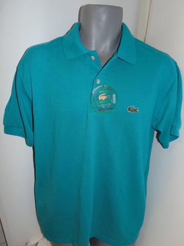 Vintage Lacoste teal polo shirt large mens, BNWT - #VS031-Classic Clothing Crib