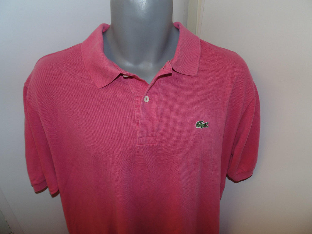 Lacoste Pink Polo Shirt Xl Mens Size 6 Vs030 Classic Clothing Crib