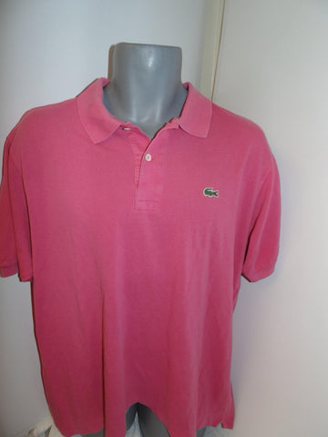 Lacoste pink polo shirt xl mens, size 6 -  #VS030