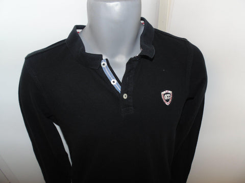 Tommy Hilfiger black long sleeves polo shirt small mens -  #VS011