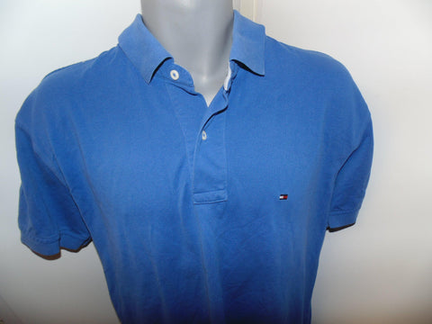 Tommy Hilfiger blue polo shirt large mens - #VS010-Classic Clothing Crib