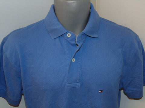 Mens Tommy Hilfiger blue polo shirt medium #P08