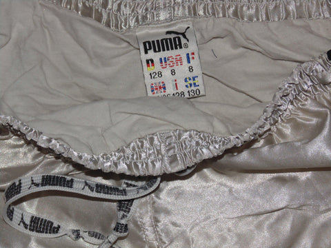 "Puma vintage nylon grey shorts 24/26"" small - #VS010-Classic Clothing Crib"