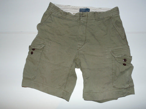 "Ralph Lauren khaki cargo shorts - 35"" Mens - #VS003-Classic Clothing Crib"