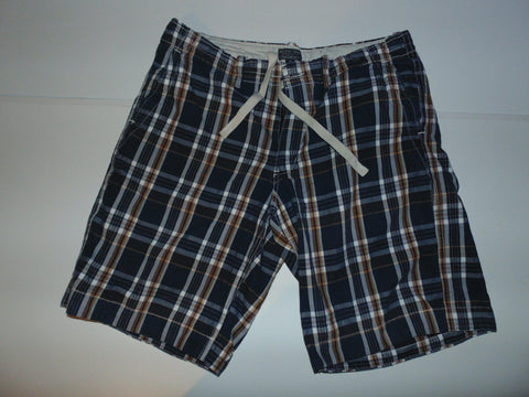 "Ralph Lauren blue checkered shorts - 38"" xl mens #VS002-Classic Clothing Crib"