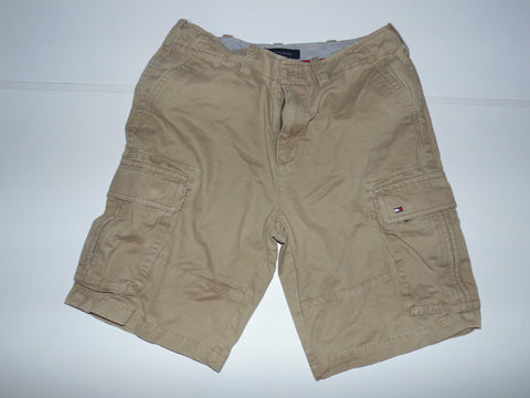 "Tommy Hilfiger beige cargo shorts - 31"" mens - #VS006-Classic Clothing Crib"