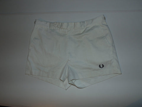 "Fred Perry white 1980's vintage shorts 36"" / large - xl mens - VS001"