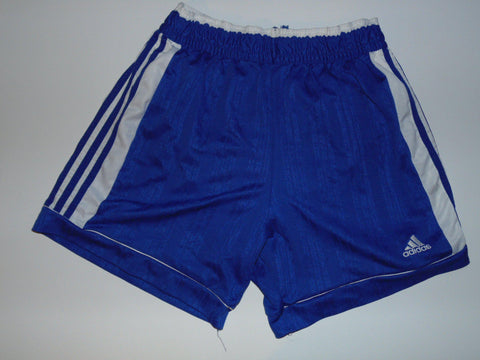 "Adidas vintage 90's polyester blue shorts large 34"" - #VS008-Classic Clothing Crib"