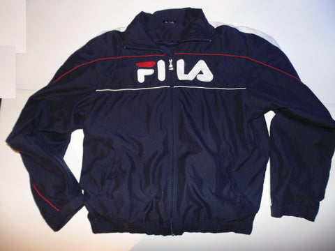 Fila vintage 90's blue zip track jacket - xl mens - #VS005-Classic Clothing Crib