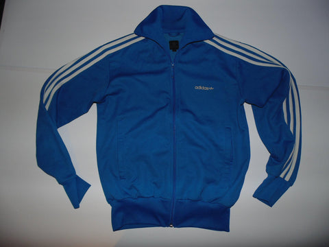 Adidas blue zip track jacket trefoil small mens firebrand - #VS002