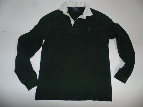 Ralph Lauren green rugby shirt / jersey, mans small custom fit-Classic Clothing Crib
