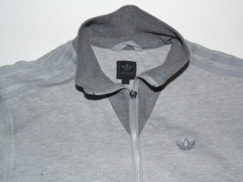 Adidas Originals grey track jacket small mens trefoil - DLT0032