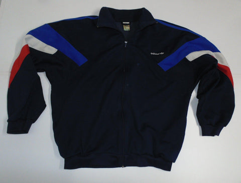 "Adidas VTG Training 1990's blue track jacket 42/44"" Large mens - DLT0051"
