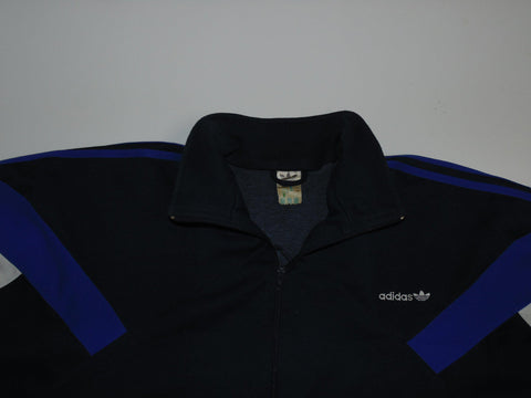 "Adidas VTG Training 1990's blue track jacket 42/44"" Large mens - DLT0052"