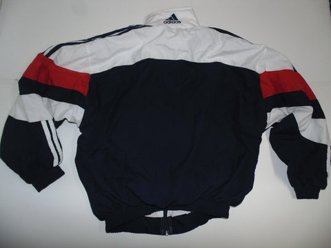 Adidas white & blue track jacket xl mens 90's - DLT0092
