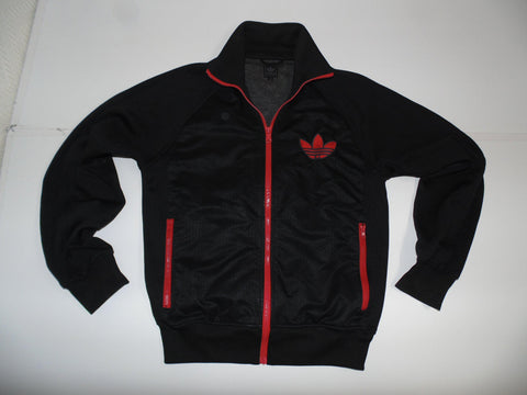 Adidas Originals black polyester  track jacket small mens - DLT0021
