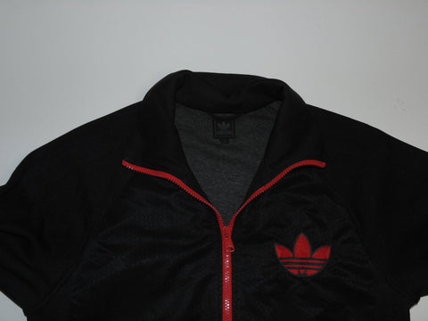 Adidas Originals black polyester  track jacket small mens - DLT0022