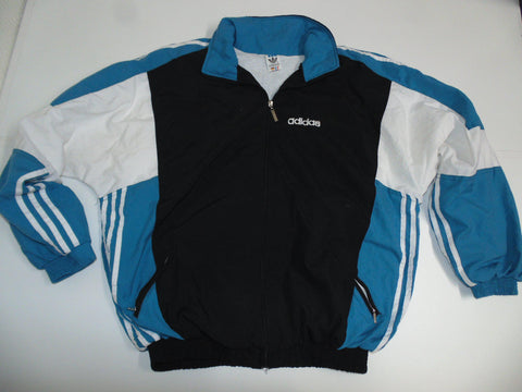 Adidas Training black & blue track jacket large mens 90's - DLT0081