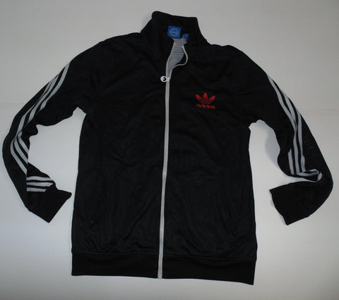 Adidas Originals black polyester track jacket large mens - DLT0011