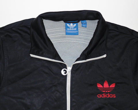 Adidas Originals black polyester track jacket large mens - DLT0012