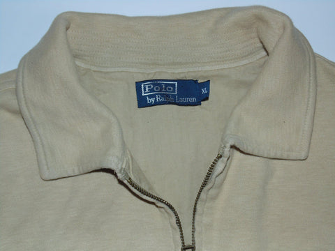 Ralph Lauren beige zip sweatshirt jacket XL mens - DLJ009-Classic Clothing Crib