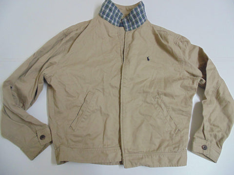 Ralph Lauren beige Harrington bomber jacket / coat, large mens casuals - DLJ008-Classic Clothing Crib