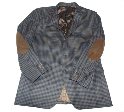 "Hugo Boss The Smith5 brown check blazer jacket - mens 44"" R DLJ014-Classic Clothing Crib"